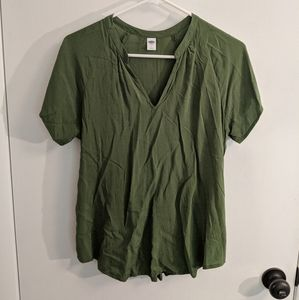Hunter green old navy short sleeved shirt m
